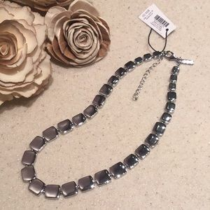 🆕WHBM SILVER BLOCK NECKLACE